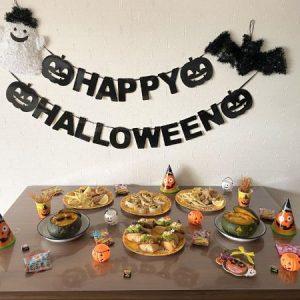 ハロウィンパーティーテーブル